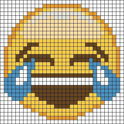 Emoji Perler Bead Pattern Dessin Petit Carreau Perles A Tisser