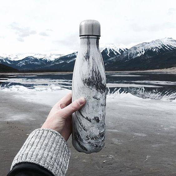 Swell Drink Bottle 500ml Marble White With Images