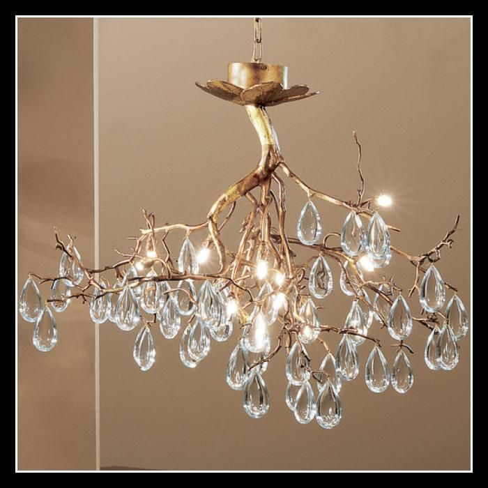 Tree Branch Crystal Water Drop Chandelier Classic Lighting