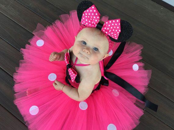 2476c389c Minnie Mouse clásico inspirado Vestido de Tutu por MissMadelynsBows