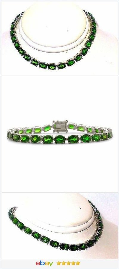 Russian Chrome Diopside Bracelet 14 00 Cts 6 5 Inch Sterling Silver Usa Ebay Http S Jewelry And Gifts By Alice Ann