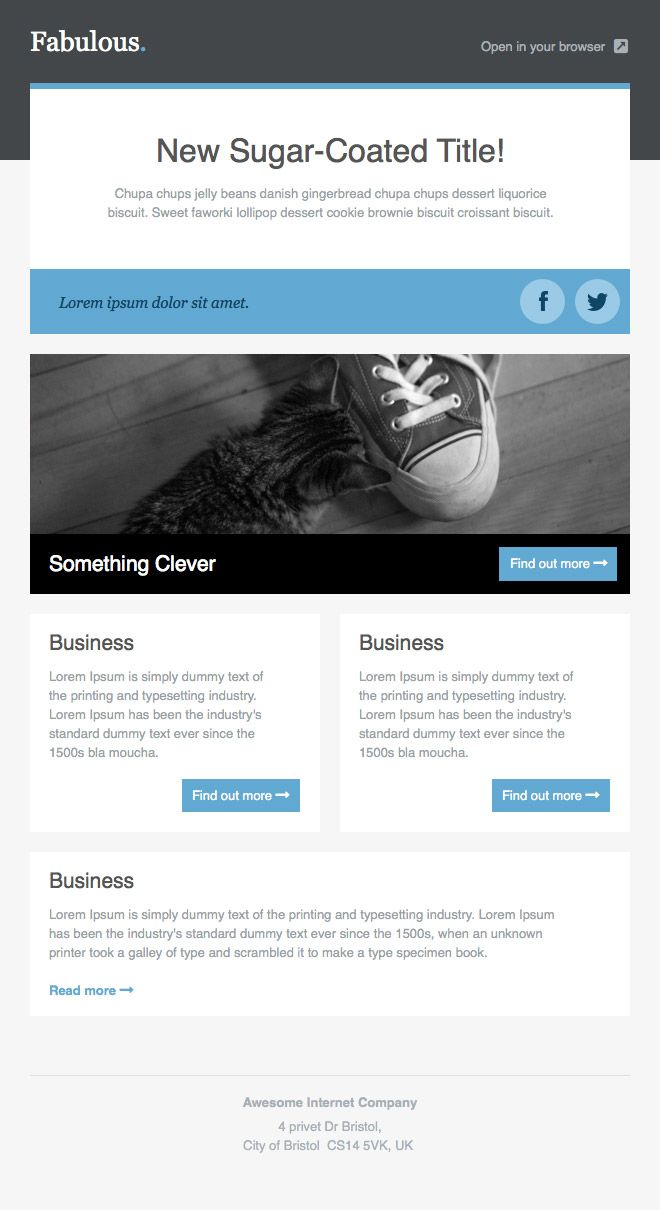 Newsletter Templates Free Email Templates  Look At More But