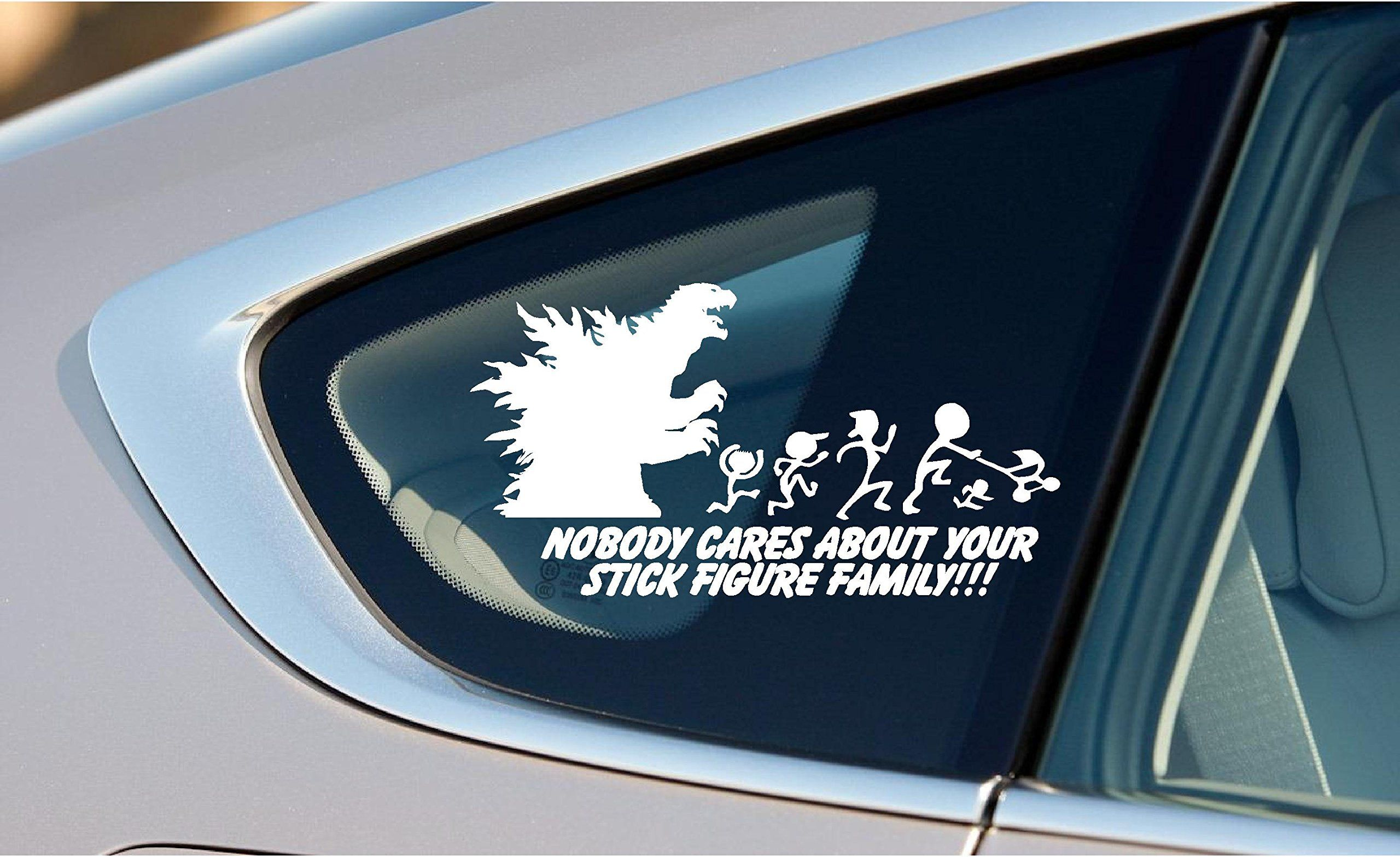 Nobody Cares About Your Stick Figure Family Godzilla X Inches - Vinyl decals for your caramazoncom your stick family was delicious trex vinyl decal