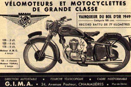 1949 Gima - France - 125cc and 175cc