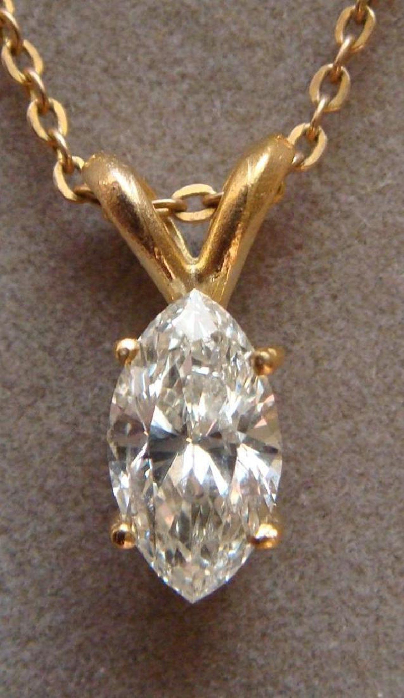 gold marquise bow dropper white marquis diamond necklace pin