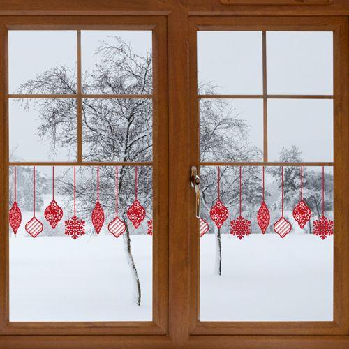 Weihnachtskugeln weihnachtsornamente fensterbilder basteln fensterbilder pinterest - Fensterdeko weihnachten grundschule ...