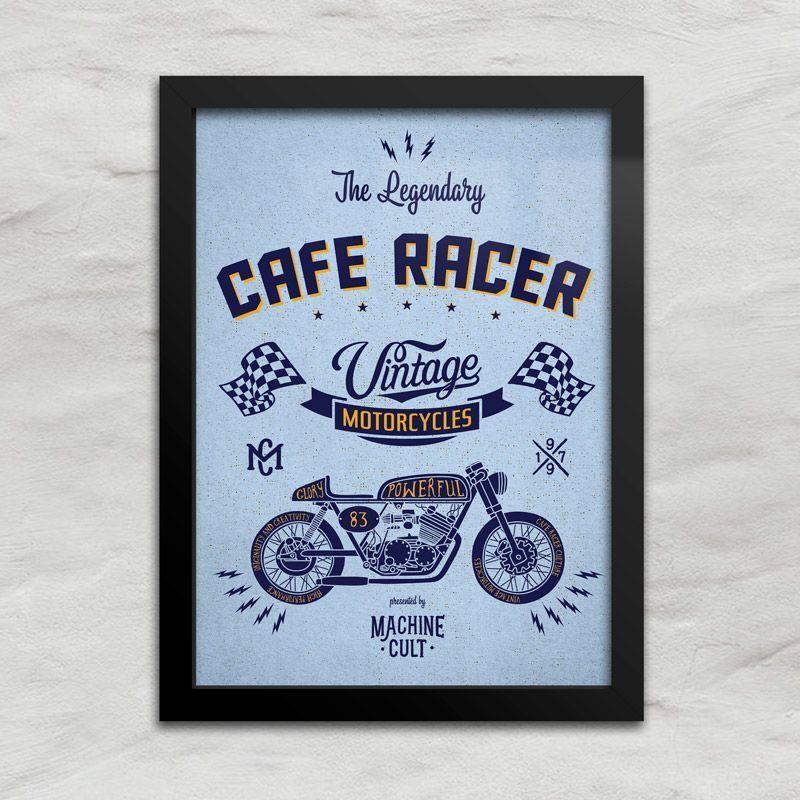 Quadro Decorativo Café Racer - Machine Cult - Kustom Shop   A loja das camisetas de carro e moto