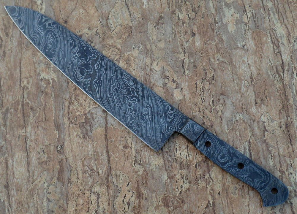 Viking Hand Forged Damascus Japanese Chef Knife Blank Blade Knife