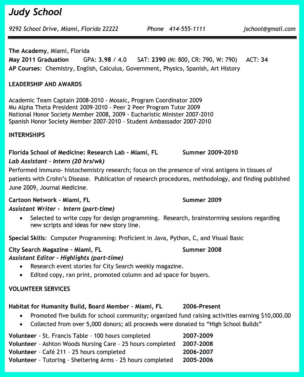 College Application Resume Is Very Advantageous When You Want To