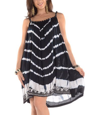Love this Black Tie-Dye Ruched Shift Tunic - Plus on #zulily! #zulilyfinds