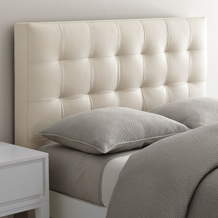 dreams beds white leather tufted headboard