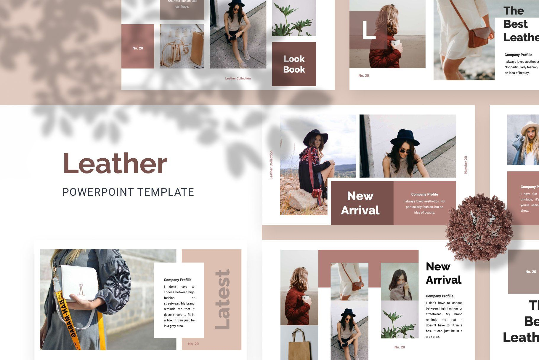 Leather Creative Powerpoint Template Creative Powerpoint Templates Creative Powerpoint Powerpoint Templates