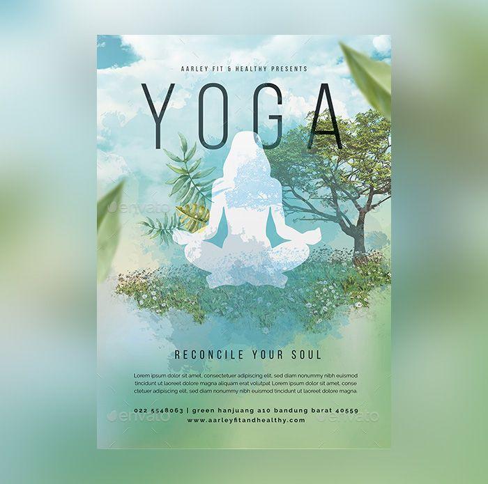 23 Yoga Flyer Psd Templates Free Premium Yoga Flyer Flyer Free Psd Flyer Templates