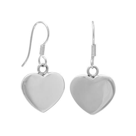 Heart Earrings 21mm Engravable On French Wire Products