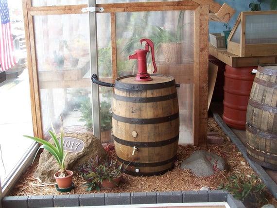 Whiskey Barrel Rain Barrel C Red Pitcher Pump Flex Fit Diverter In 2020 Rain Barrel Whiskey Barrel Rain Barrel Stand