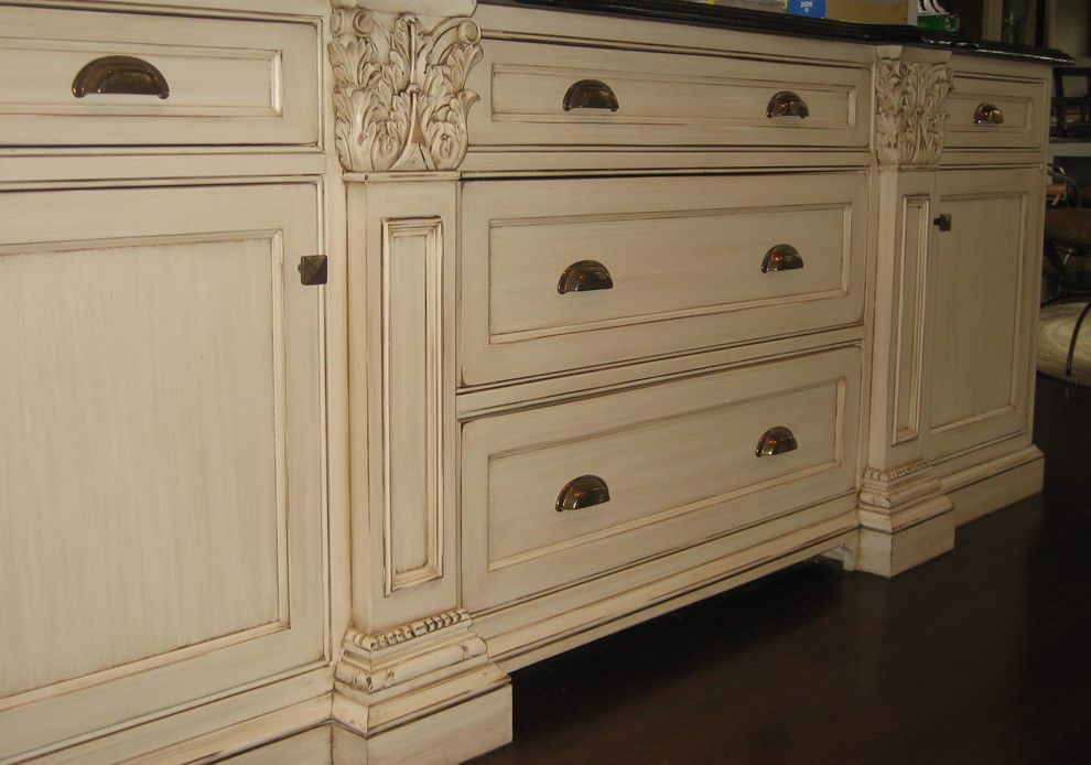 white distressed kitchen cabinets - - Yahoo Image Search ...