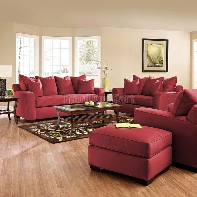 Heather Living Room Set Cinnabar Cheap Living Room