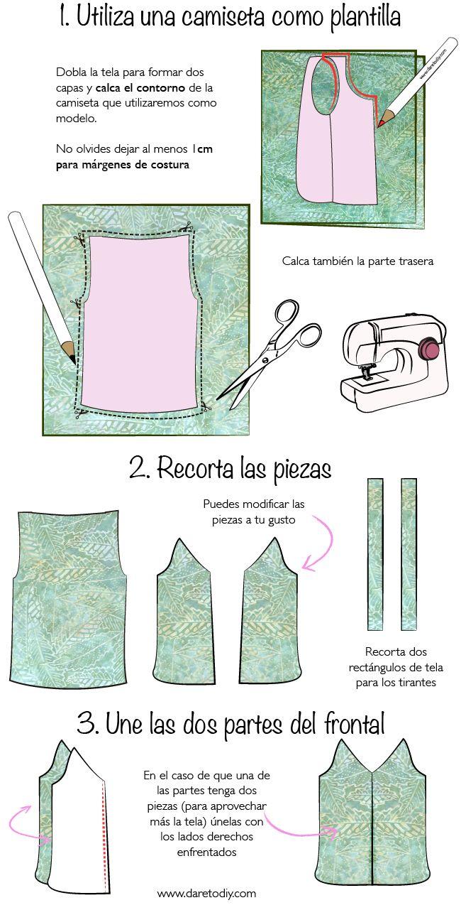 Dare to DIY: Proyecto DIY: Un mono en dos piezas   Camisón pijamas ...