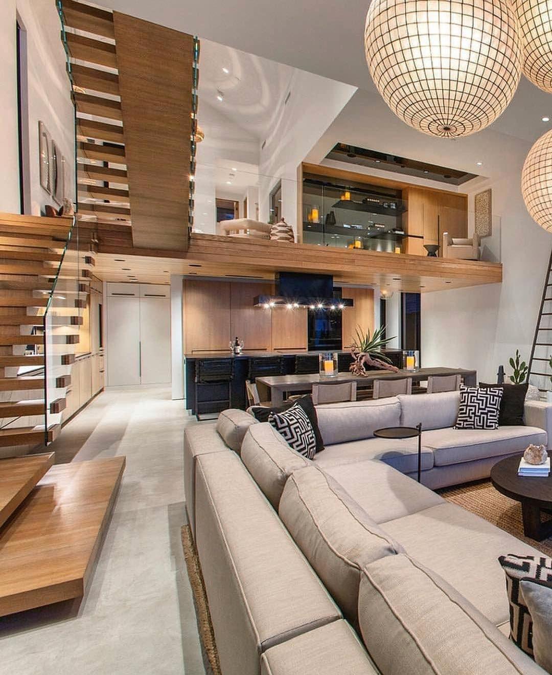 Luxury Interiors On Instagram Living Room Goals Rate 1 10 Follow Lamaisoninterior Fol Loft Design Luxury House Designs Luxury Interior