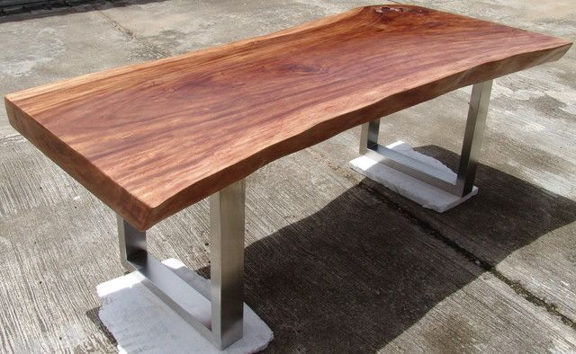 Slab Acacia Wood Dining Table By Flowbkk Contemporary Dining Tables