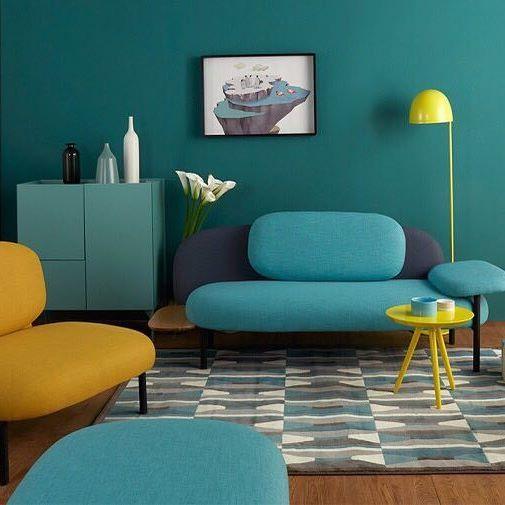 Gummy Sofa Jellyfish Lamp Macaron Table Silk ChairA Sweetest Living Room