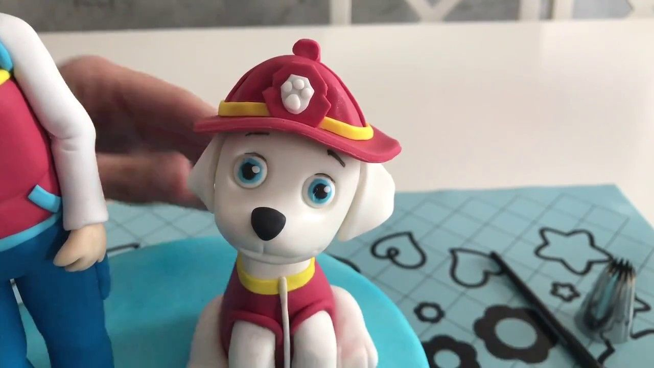 How To Make Paw Patrol Marshall In Fondant  Cakes In 2019 -1485