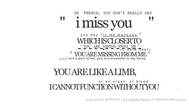 In French You Don T Really Say I Miss You Y O U S A Y T U M E M A N Q U E S Which Is Closer To You I Miss You Text I Miss You Messages Miss You Text