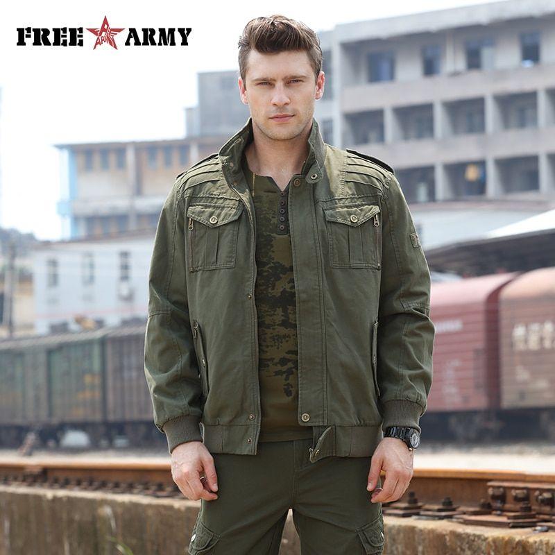 05416b0ebbf58 Aliexpress.com : Buy Fashion Army Green Jackets Men Military Clothing Men  Bomber Jackets Camo Jacket Male Designer Clothes Men's Jean Jacket MS 6052  from ...