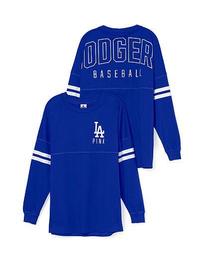 f794e6fd0 Los Angeles Dodgers Varsity Crew PINK
