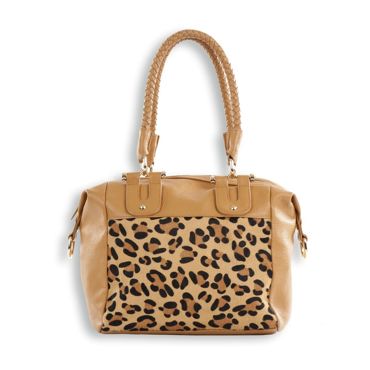 Soft Leather Handbag with Animal Print in-fill. Wonderful soft leather handbag from the 'Onyx' collection.