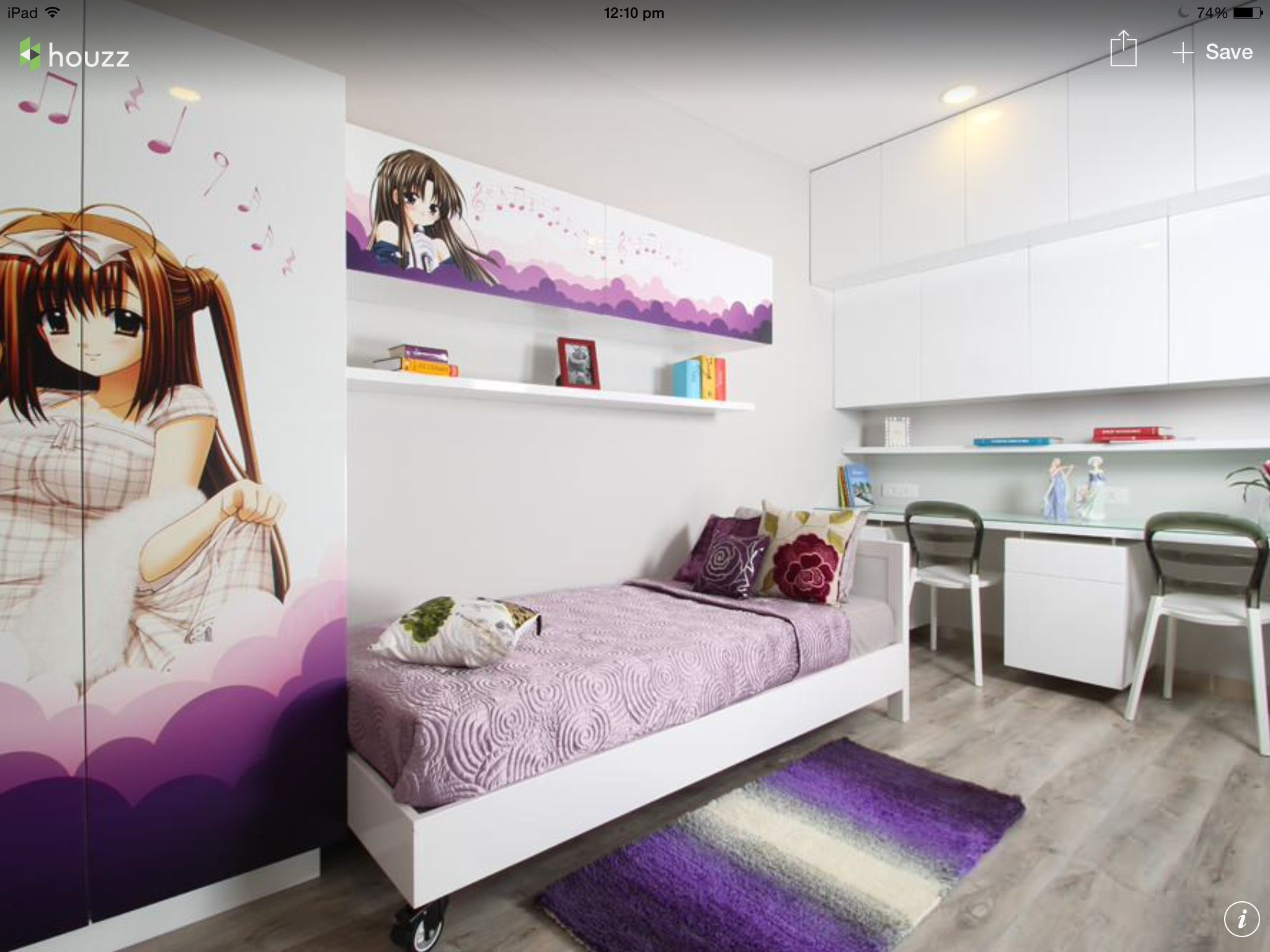 Awesome anime room cool girl rooms bedroom design