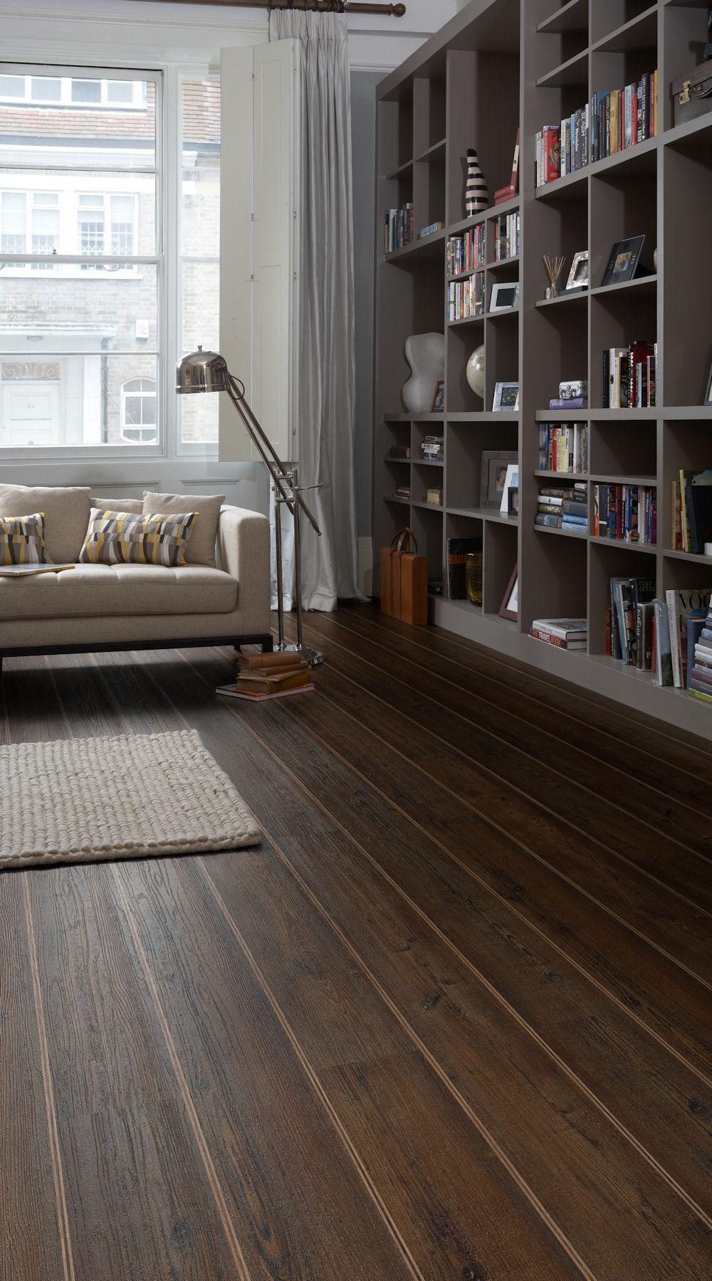 Dark wood effect Colonia Kings Oak luxury vinyl tile flooring with