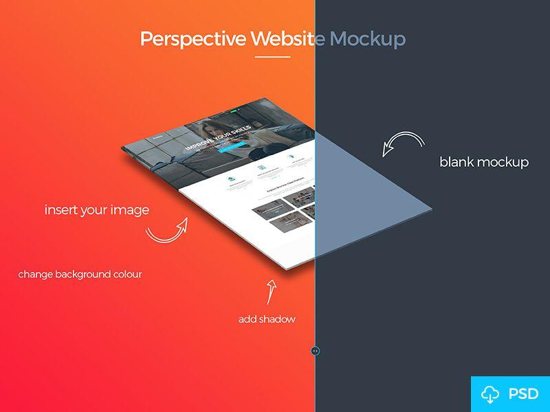 Free Perspective Mockup Website Mockup Website Mockup Free Website Mockup Psd