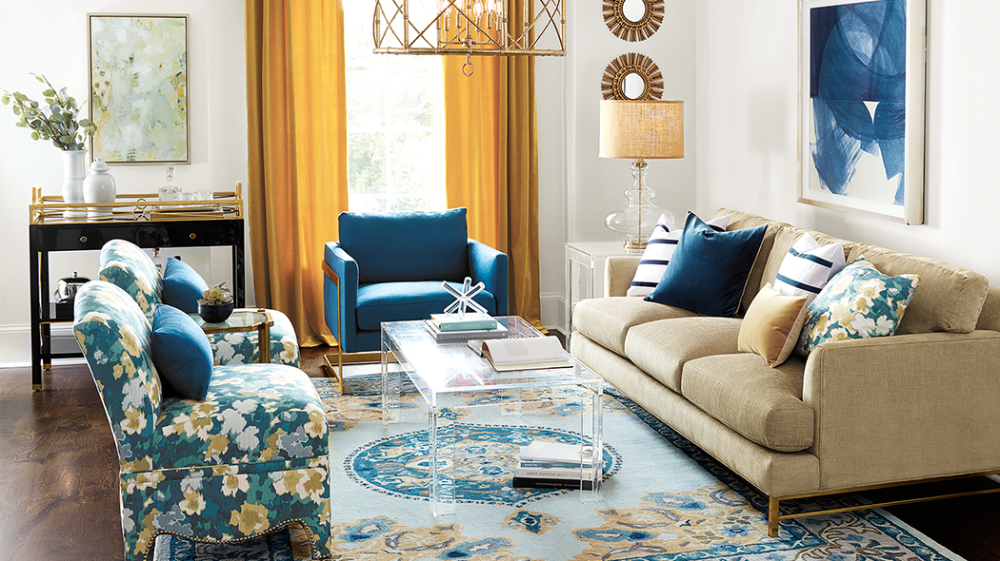 Interior Design Colors Ochre Blue Google Search Huis Interieur Interieur Woonkamer