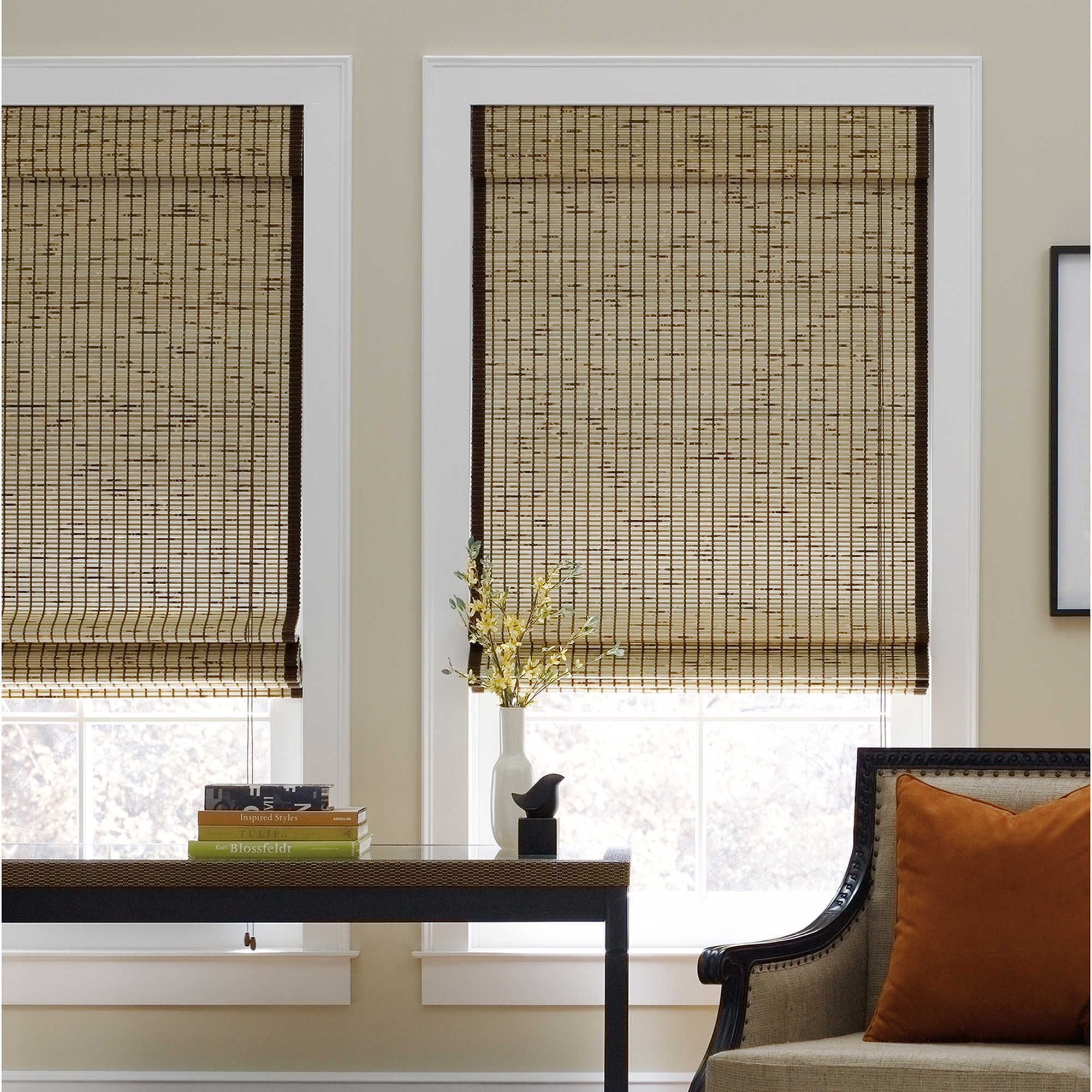 This Cordless Bamboo Shade Gently Filters Light Adding A Warm
