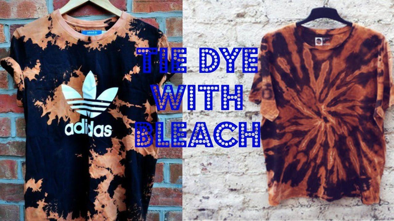 TIE DYE WITH BLEACH TUTORIAL How to dye fabric, Tie dye