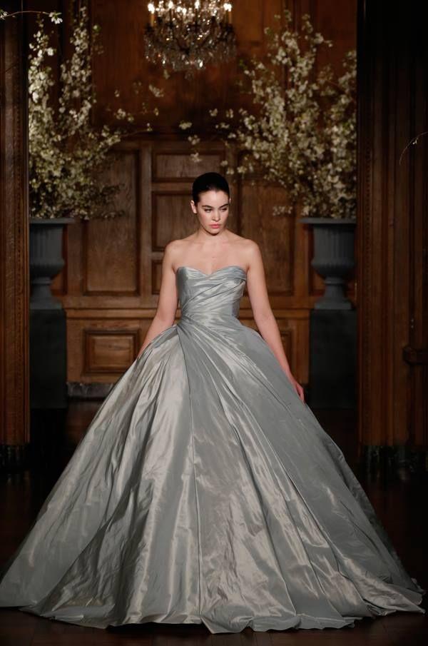 Romona Keveza Wedgewood Blue Silk Taffeta ball gown | Wedding Gowns ...