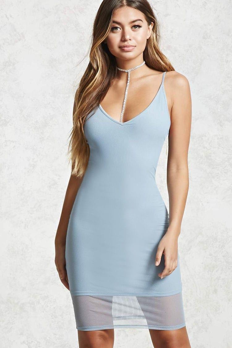 Sheer Ribbed Cami Dress   forever 21  the latest   Pinterest
