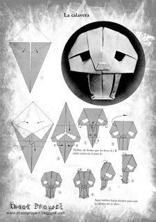 Chaos Proyect Calavera De Origami Skull Mask Paper Crafts Rh Com Elephant Diagram Dolphin