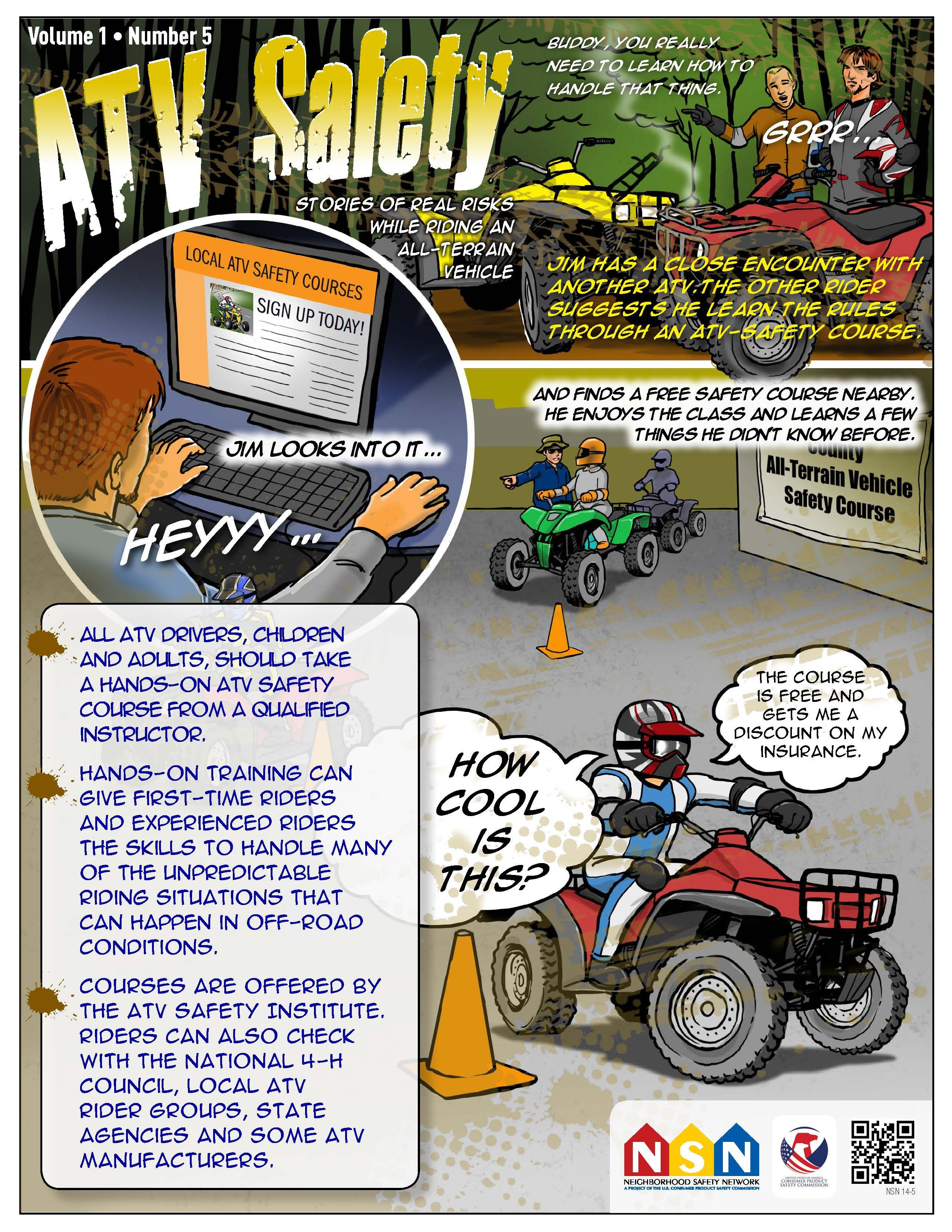 ATV Safety Comic Take a Safety Course Safety courses