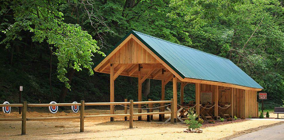 Example Of Post And Beam Pavilion Carport Backyard