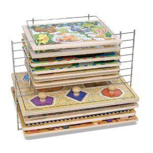 Amazon.com: Melissa & Doug Deluxe Wire Puzzle Rack: Toys & Games