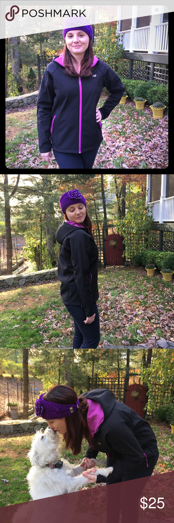 NEW BALANCE JACKET Follow my INSTAGRAM for video of jacket. @gibaravintage. Black and fuchsia. Lightweight jacket for a chilly fall day. Great for layering. Size medium. New Balance Jackets & Coats