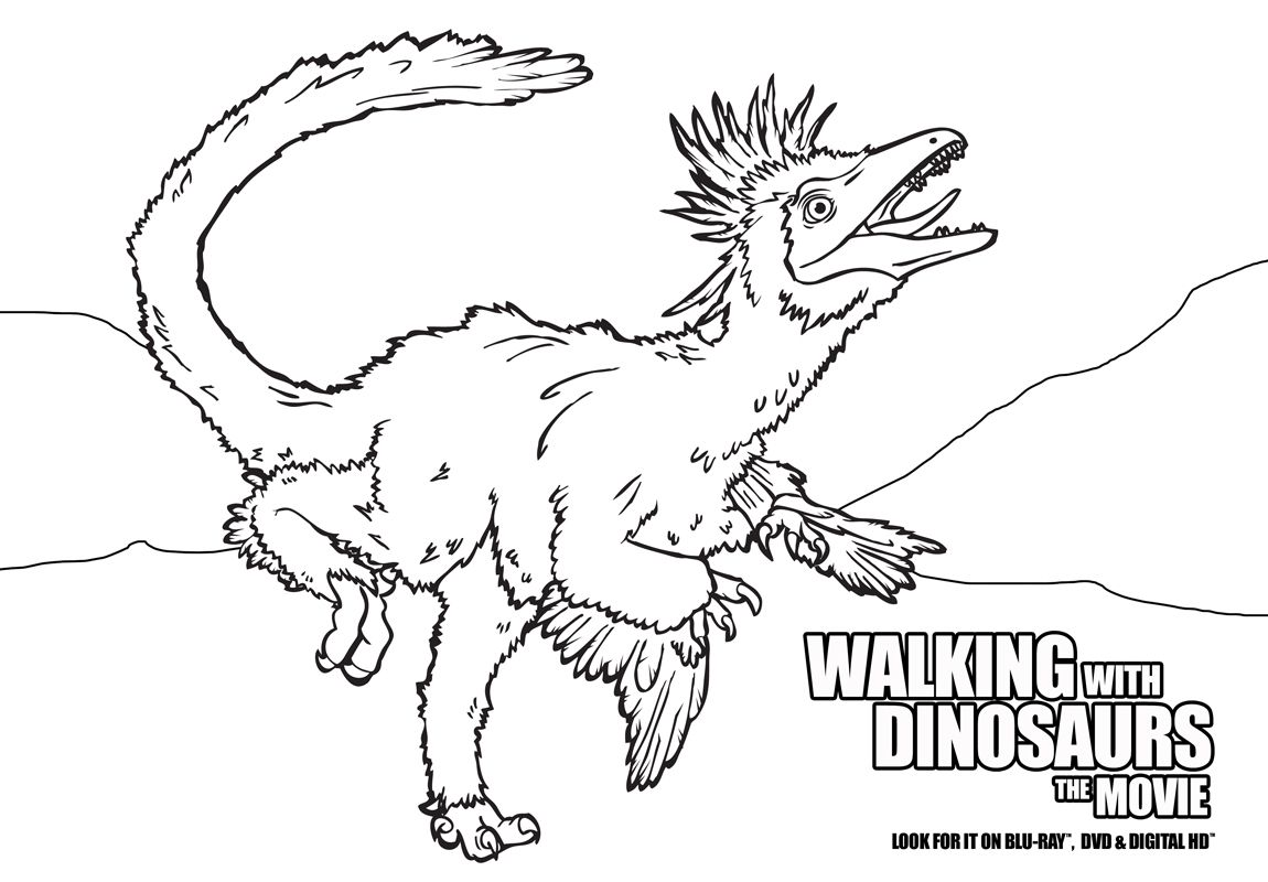 Color In All Of Your Favorite Dinosaurs From Walking With Dinosaurs