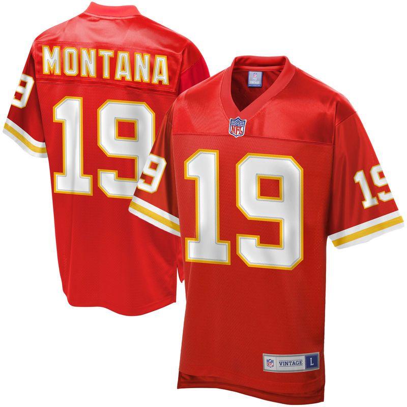 Men s NFL Pro Line Kansas City Chiefs Joe Montana Retired Player Jersey d877babbf