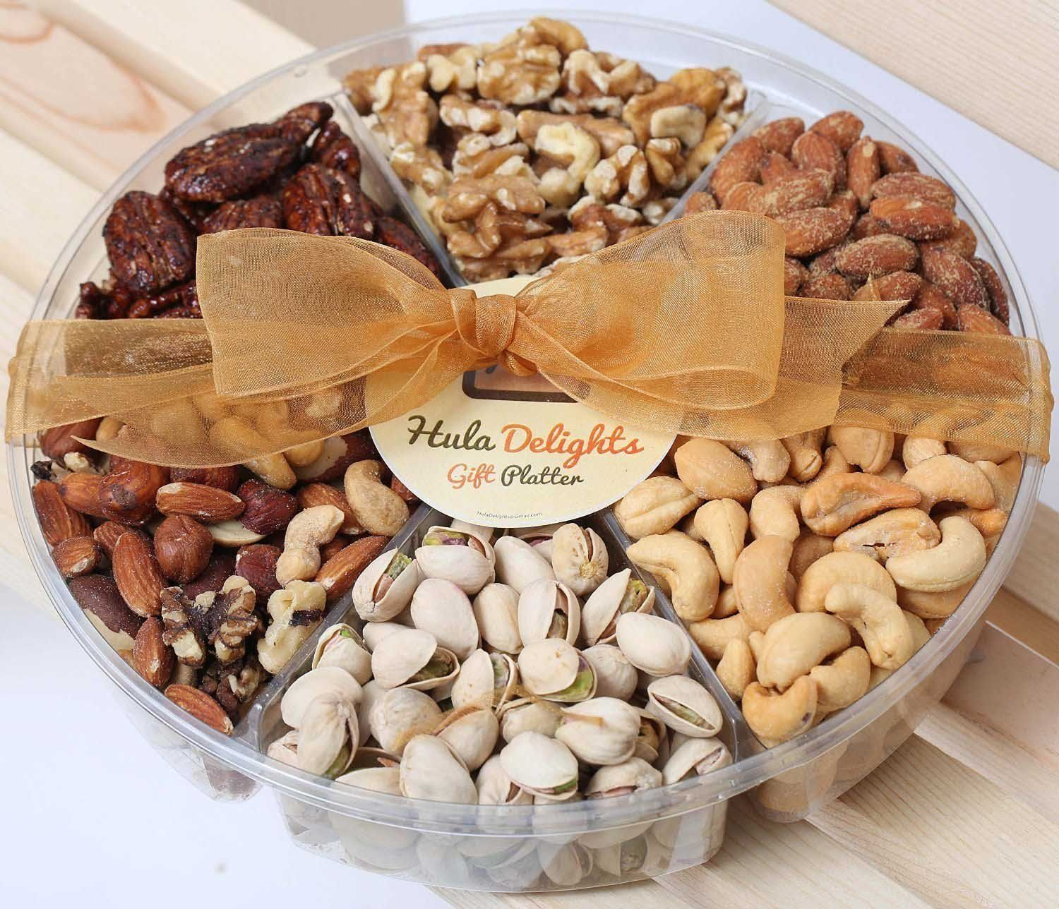 Deluxe Roasted Nuts Gift Tray 6-Section – Hula Delights : Birthday gift
