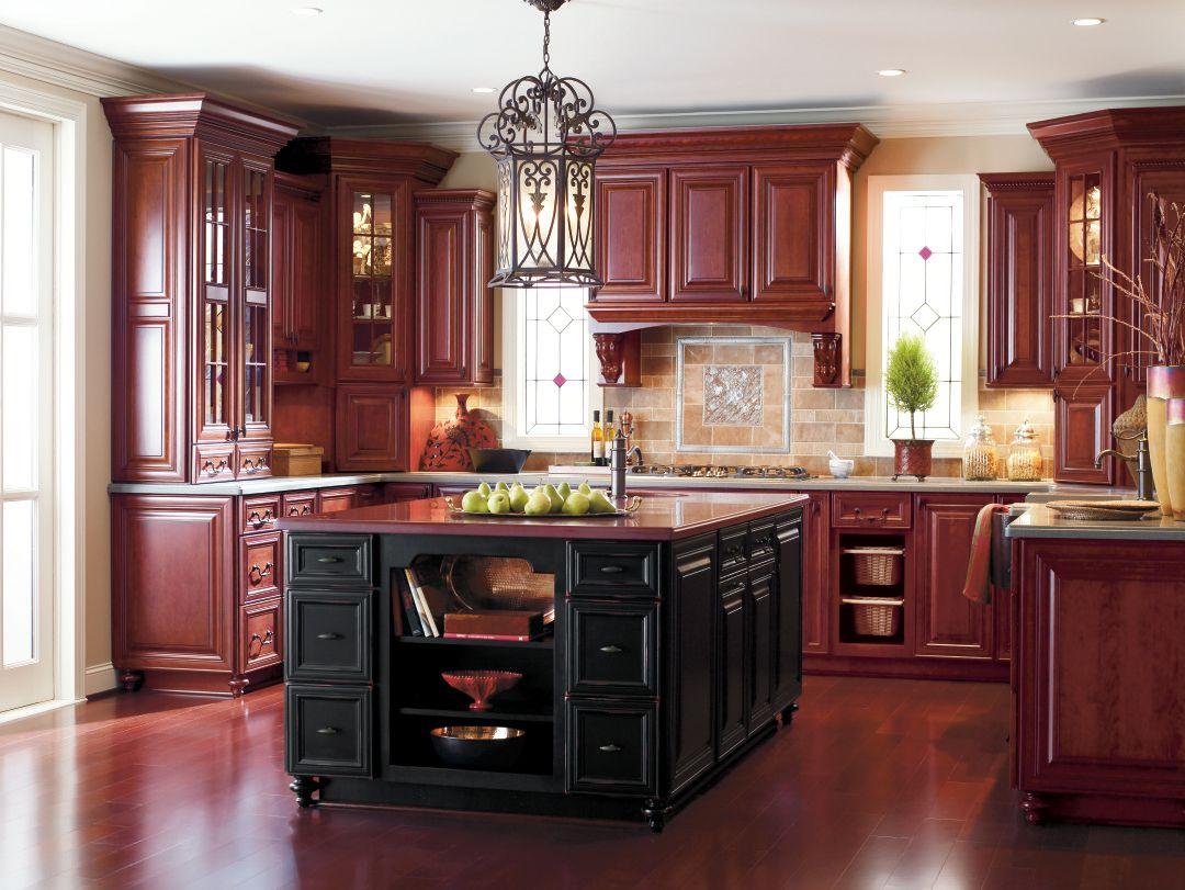 Custom Cabinets Bathroom Kitchen Cabinetry Omega Cherry Cabinets Kitchen Cherry Wood Kitchens Kitchen Design