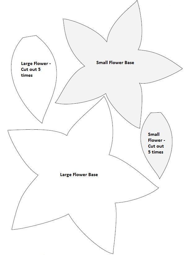 DIY Weihnachtspoinsettia Filzkranz #feltflowertemplate