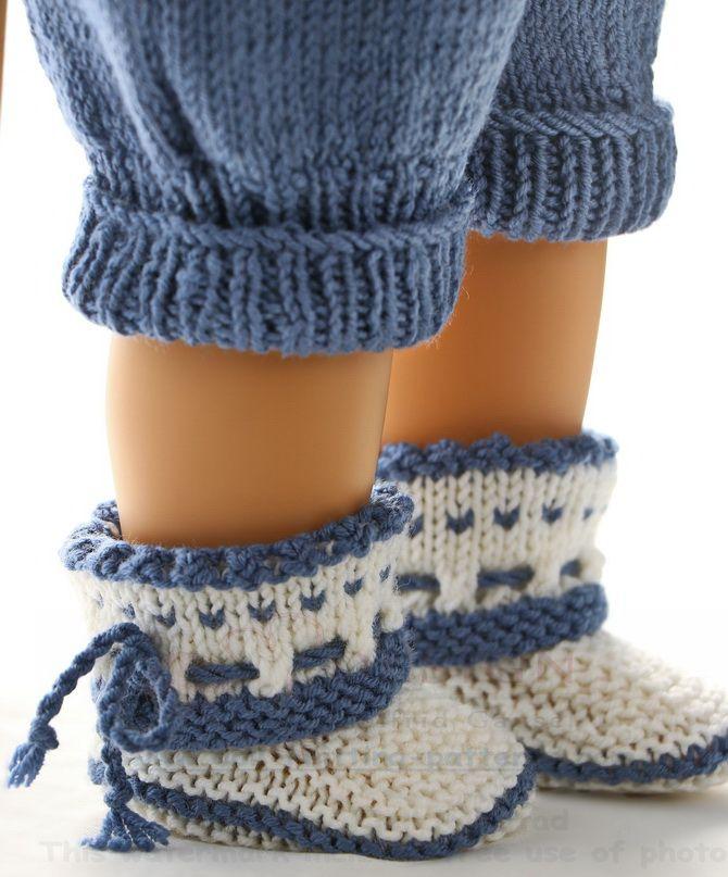 Modele poupee tricot jolie combinaison de poup e avec un adorable motif de bonhomme de neige - Modele bonhomme de neige ...