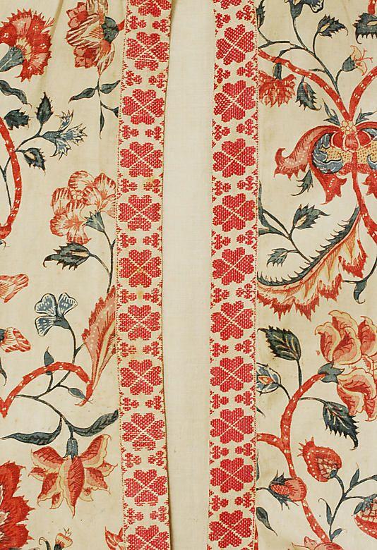 Dress  Date:     18th–19th century Culture:     Dutch Medium:     cotton